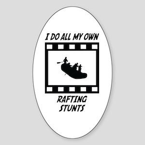 Rafting Stunts Oval Sticker