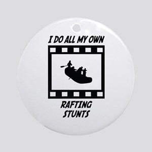 Rafting Stunts Ornament (Round)