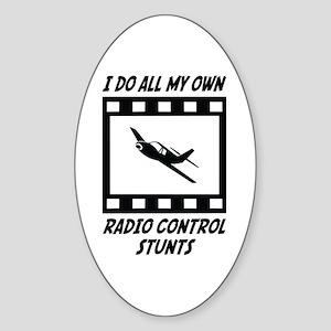 Radio Control Stunts Oval Sticker