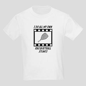 Racquetball Stunts Kids Light T-Shirt