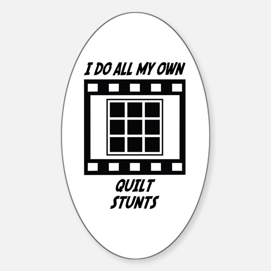 Quilt Stunts Oval Stickers