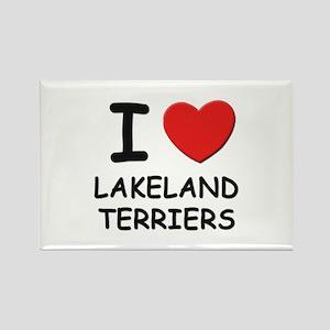 I love LAKELAND TERRIERS Rectangle Magnet