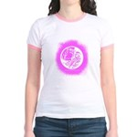 Night Water Cutout (Pink Spray) Jr. Ringer T-Shirt