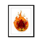Tiger Flame Framed Panel Print