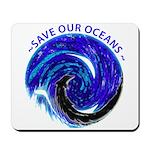 Save Our Oceans (Black) Mousepad