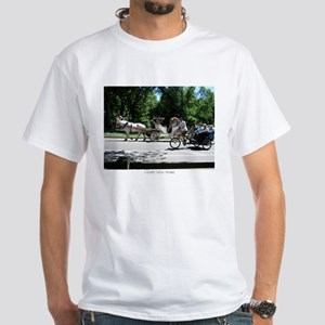I LOVE NY Horse and Carriage White T-Shirt