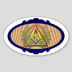 Masonic Acacia Pyramid Oval Sticker