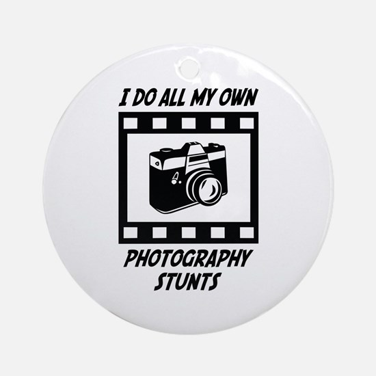 Photography Stunts Ornament (Round)