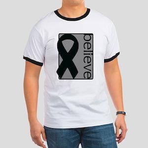 Gray (Believe) Ribbon Ringer T