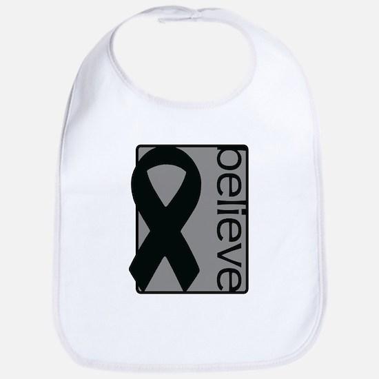 Gray (Believe) Ribbon Bib