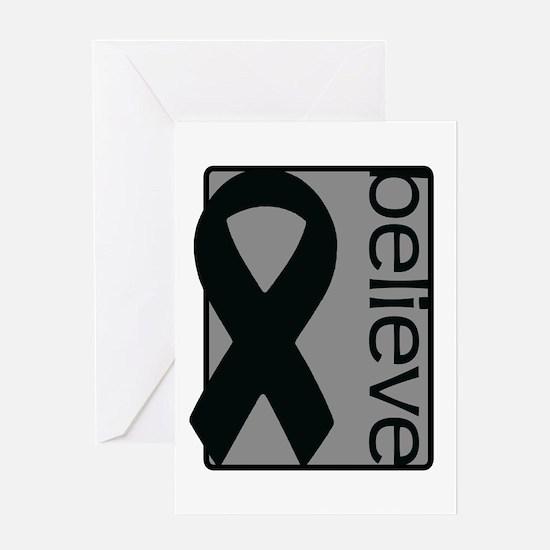Gray (Believe) Ribbon Greeting Card