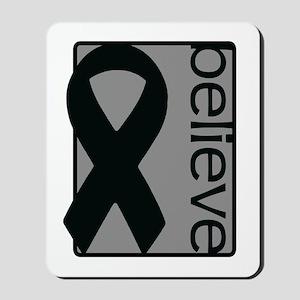 Gray (Believe) Ribbon Mousepad