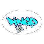 Bingo tagester Oval Sticker (10 pk)