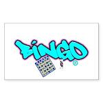 Bingo tagester Rectangle Sticker