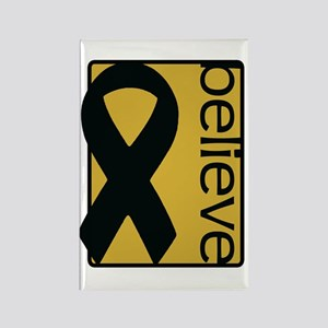 Gold (Believe) Ribbon Rectangle Magnet
