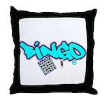 Bingo tagester Throw Pillow