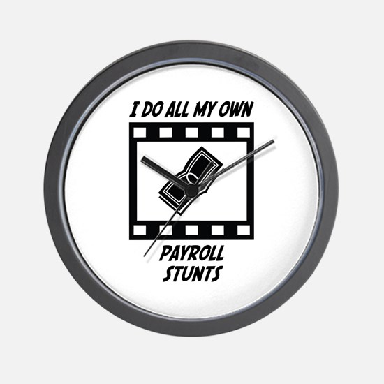 Payroll Stunts Wall Clock