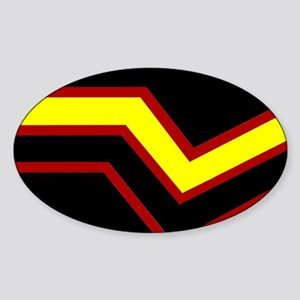 Rubber Pride Flag Oval Sticker