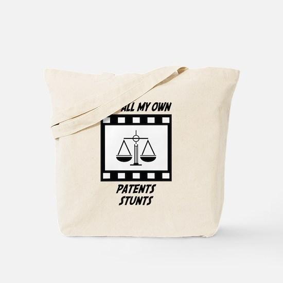 Patents Stunts Tote Bag