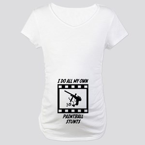 Paintball Stunts Maternity T-Shirt