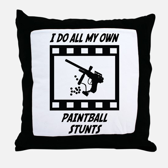 Paintball Stunts Throw Pillow