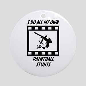 Paintball Stunts Ornament (Round)