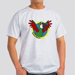Cartoon Bird Severe Macaw Light T-Shirt
