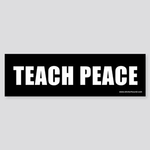 Teach Peach Bumper Sticker