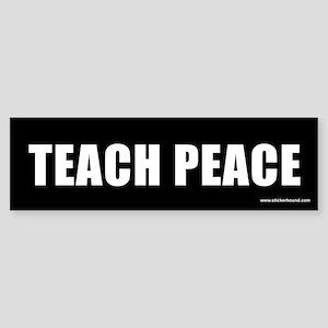 Teach Peach Bumper Sticker