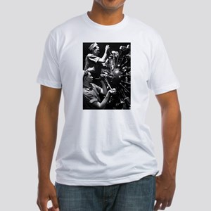 CURTISS HELLDIVER ENGINE Fitted T-Shirt