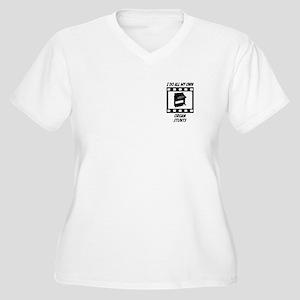 Organ Stunts Women's Plus Size V-Neck T-Shirt