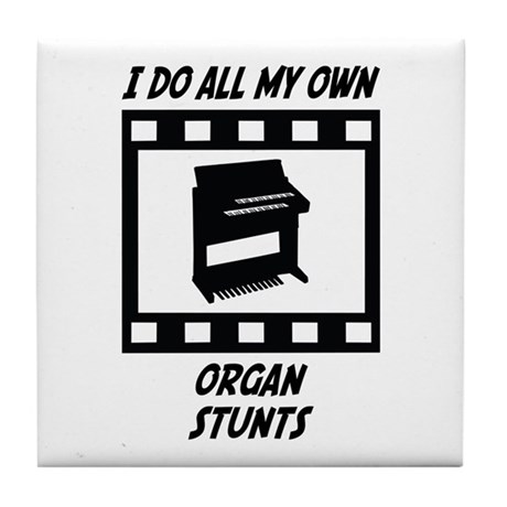 Organ Stunts Tile Coaster
