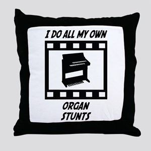 Organ Stunts Throw Pillow
