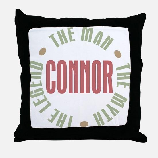 Connor Man Myth Legend Throw Pillow