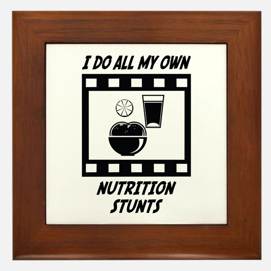 Nutrition Stunts Framed Tile