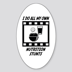 Nutrition Stunts Oval Sticker