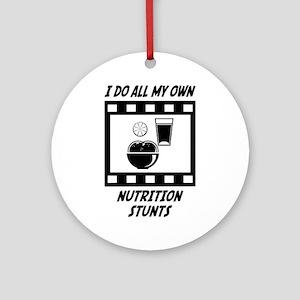 Nutrition Stunts Ornament (Round)
