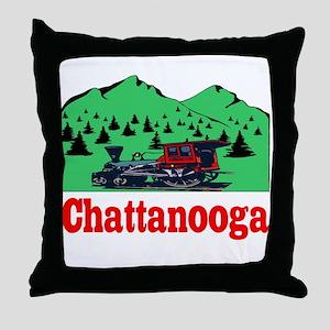 Chattanooga Train Throw Pillow