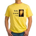 Immanuel Kant 1 Yellow T-Shirt