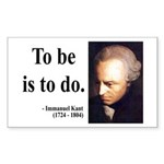 Immanuel Kant 1 Rectangle Sticker