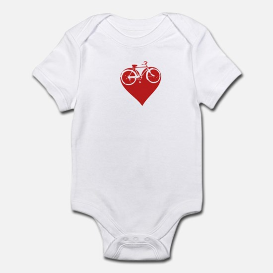 I heart bikes Infant Bodysuit