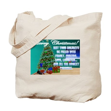 Christmas Hockey Cards & Gifts 2 Tote Bag