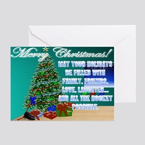 Christmas Hockey Cards & Gifts 2 Greeting Card