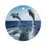 Dolphin Diving Ornament (Round)