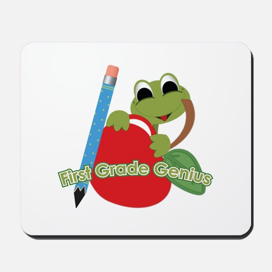 First Grade Genius Frog Mousepad