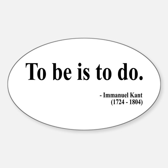 Immanuel Kant 1 Oval Decal