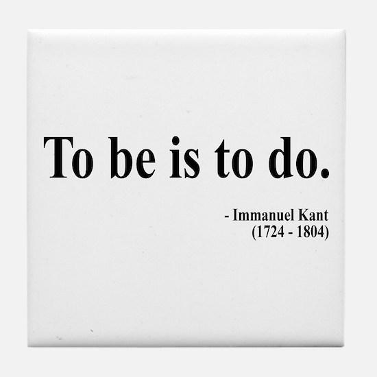 Immanuel Kant 1 Tile Coaster