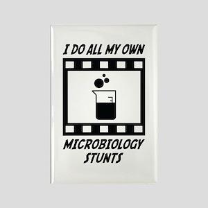 Microbiology Stunts Rectangle Magnet