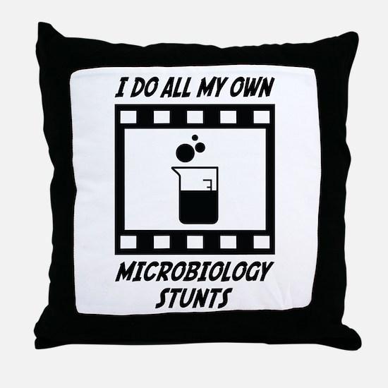 Microbiology Stunts Throw Pillow