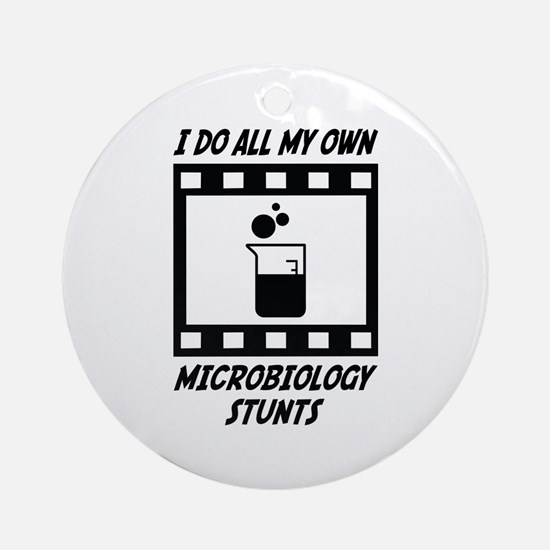 Microbiology Stunts Ornament (Round)